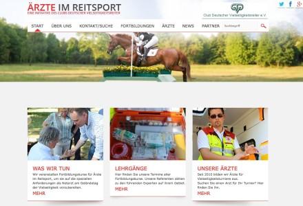 Ärzte, Fortbildungen, neue Bestimmungen: Die neue Website des CDV www.aerzte-im-reitsport.de hilft weiter